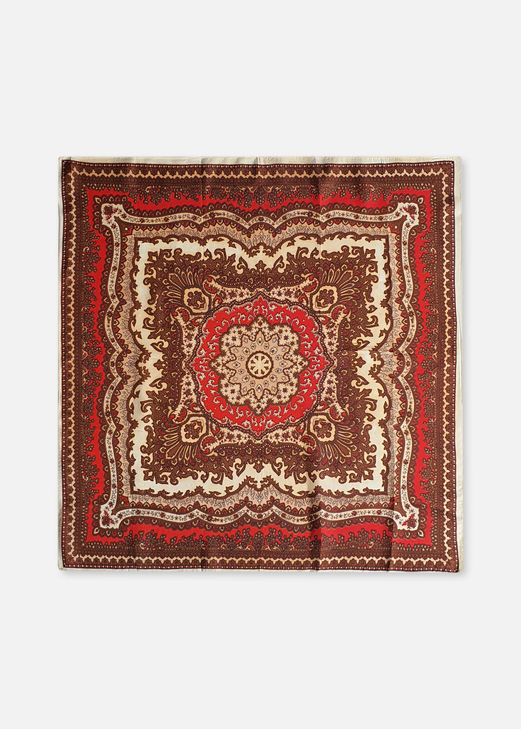 Red Paisley Scarf
