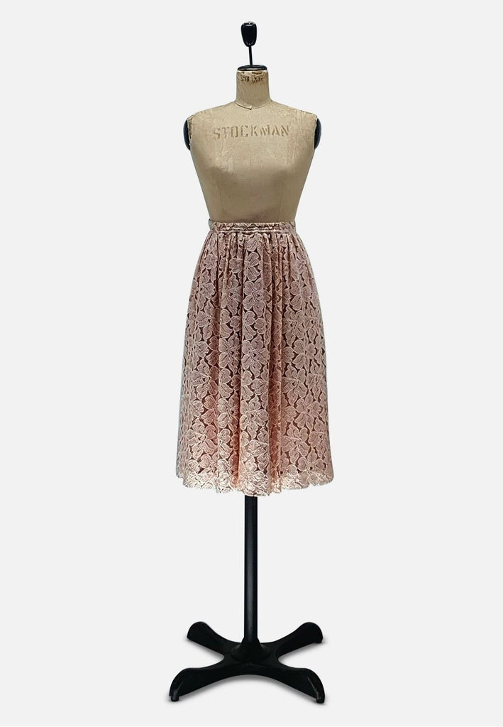 Dusky Rose Lace Skirt