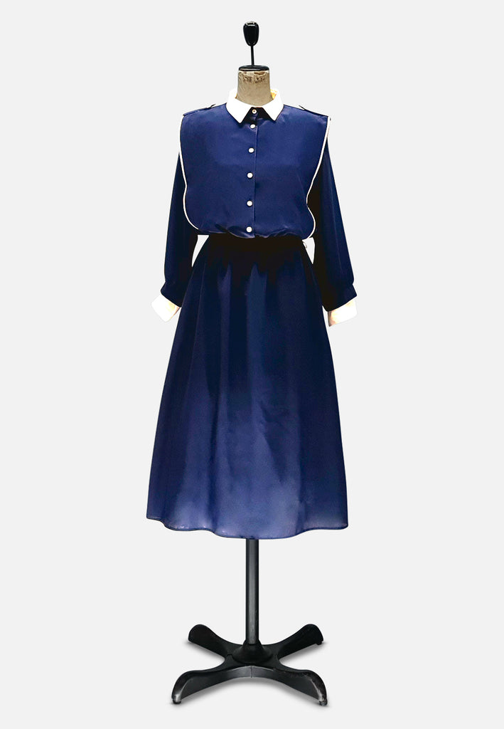 Button You Up in Navy Dress
