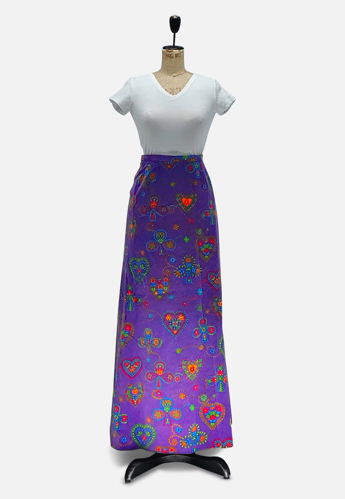 Purple Maximum Velvet Maxi Skirt