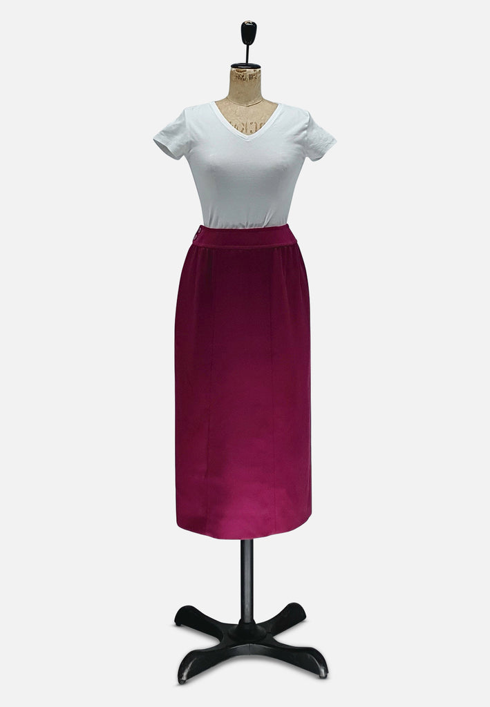 Raspberry Wool Skirt