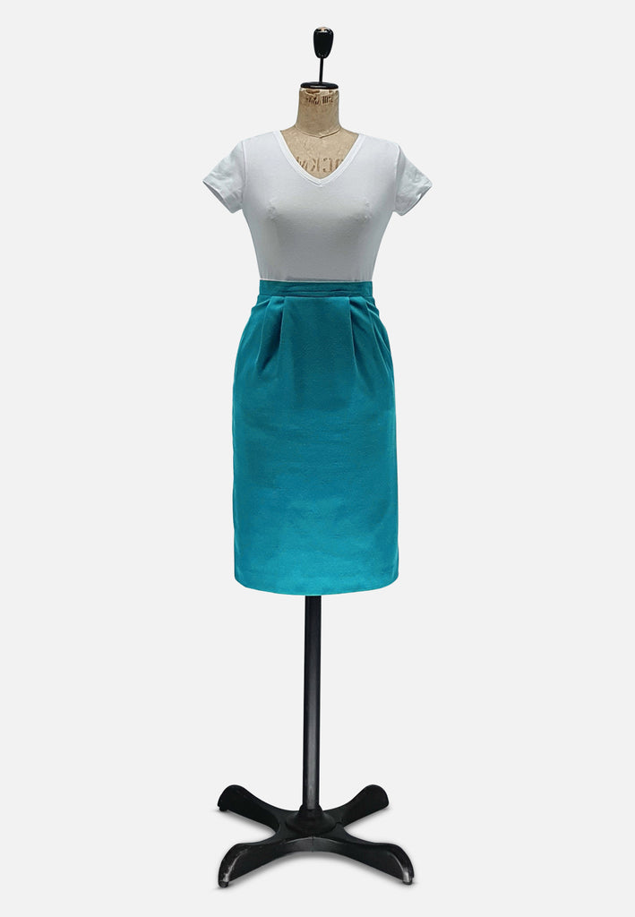 Teal Straight Skirt