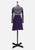 Italian Class Purple Wool Dress