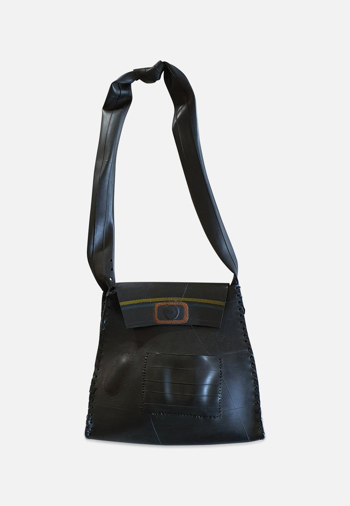Black Retro Rubber Handbag