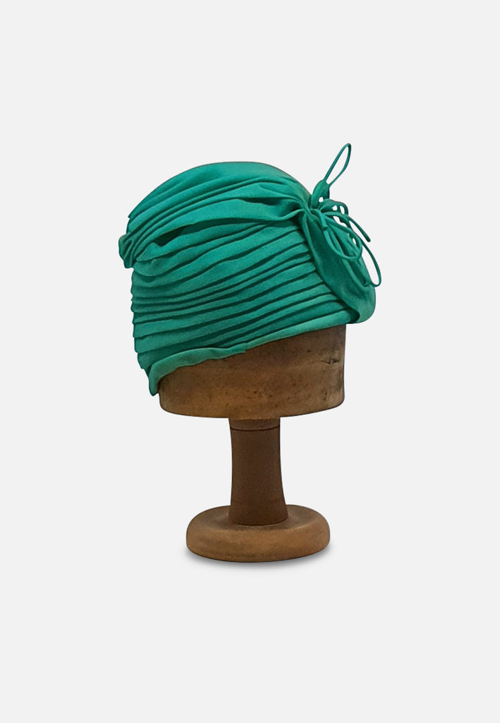 Emerald Excellence Green Pleated Hat