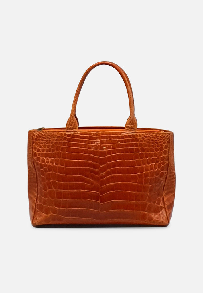 Faux Crocodile Suede Handbag RETRO