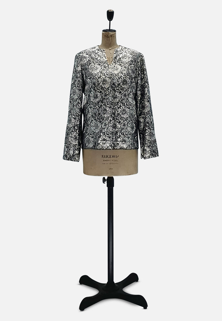 Silver Flower Blouse