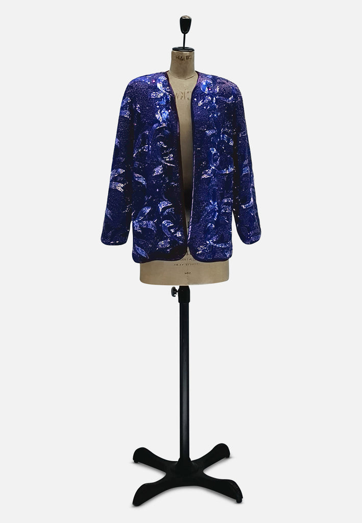Purple Sequin Majesty Jacket