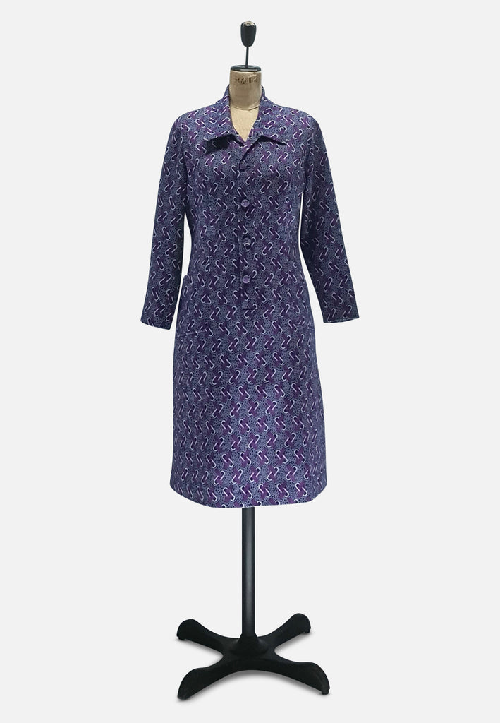 Posh in Purple Pattern Dress