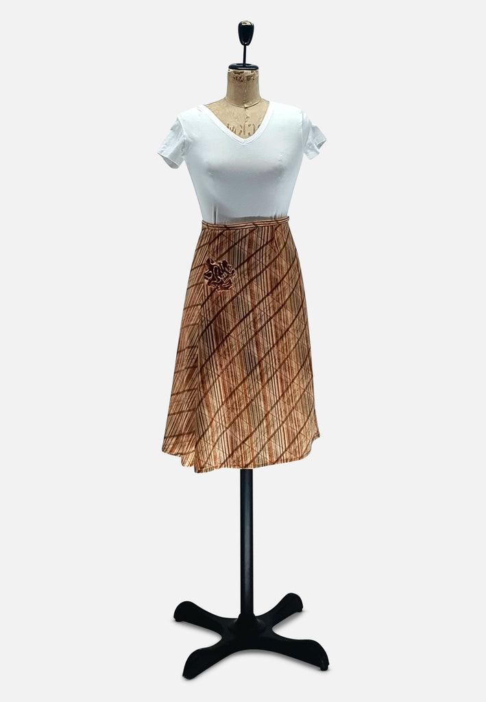 Lurex Stripe and Rose Skirt