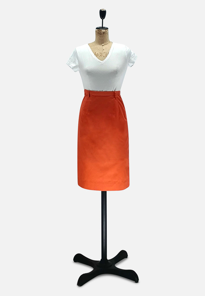 Orange Pencil Skirt RETRO
