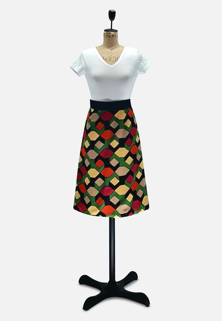 French Geometric Skirt