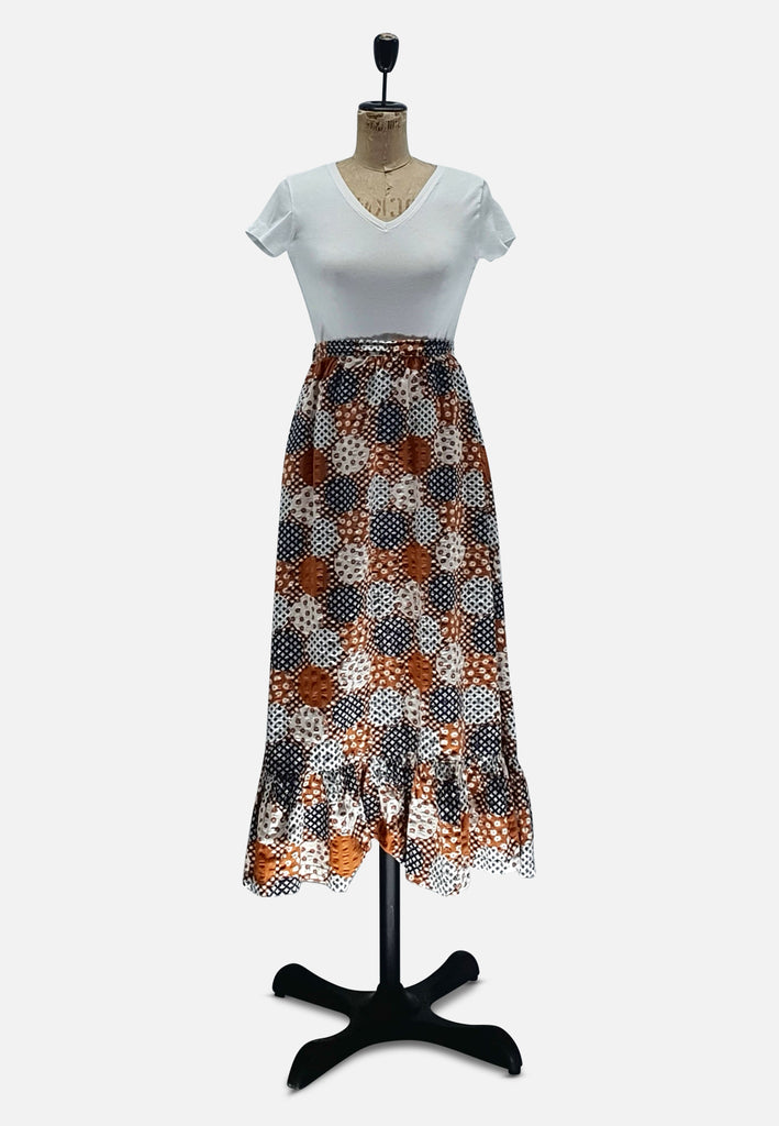 Patchwork Pattern Skirt