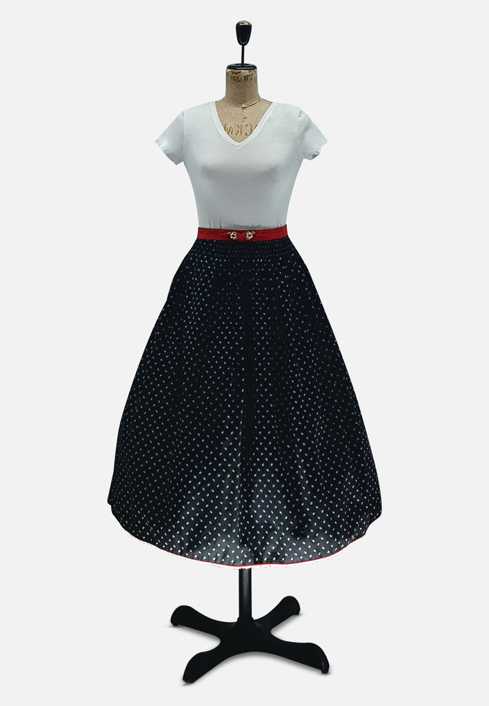 Black and White Polka Dot Skirt