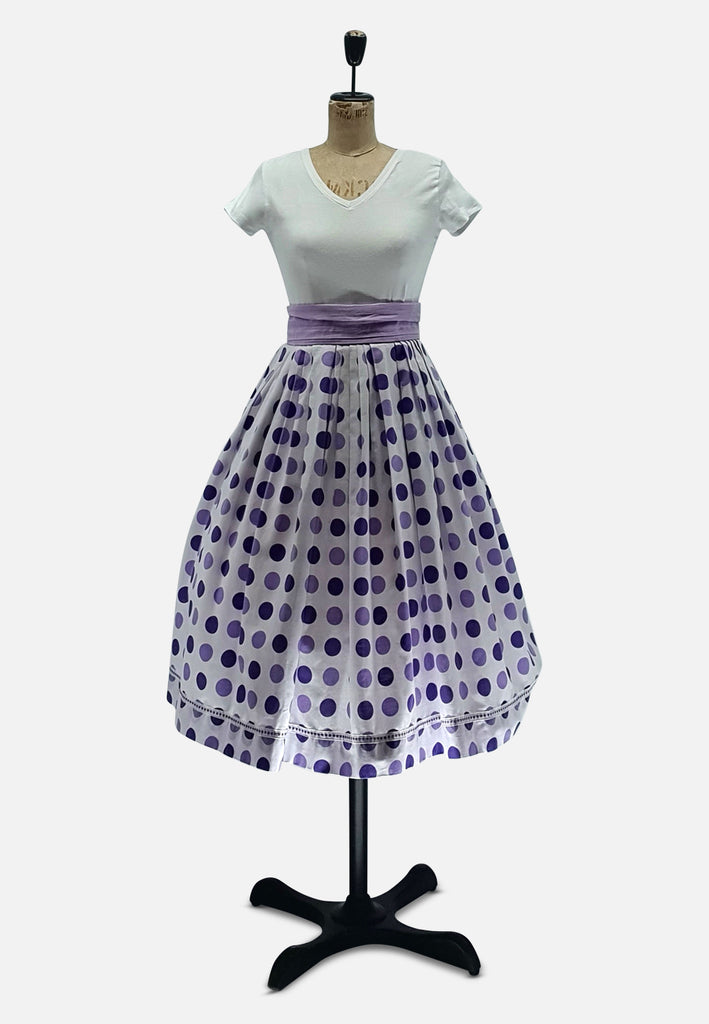 Purple Polkadot Skirt