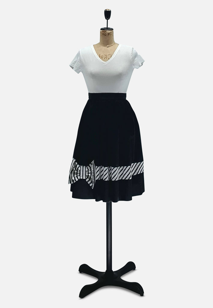 Black and White Bow Skirt