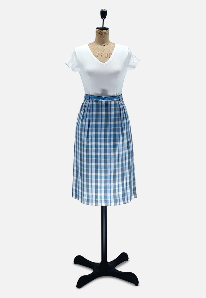 Blue Checked Skirt