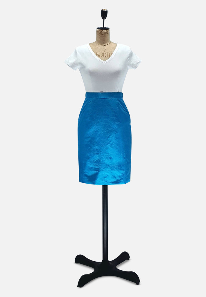 Ocean's Blue Pencil Skirt RETRO