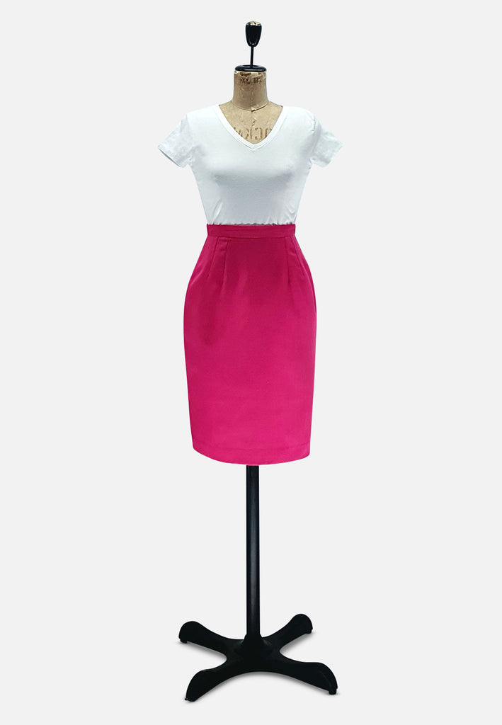Michele Petite Pink Pencil Skirt RETRO