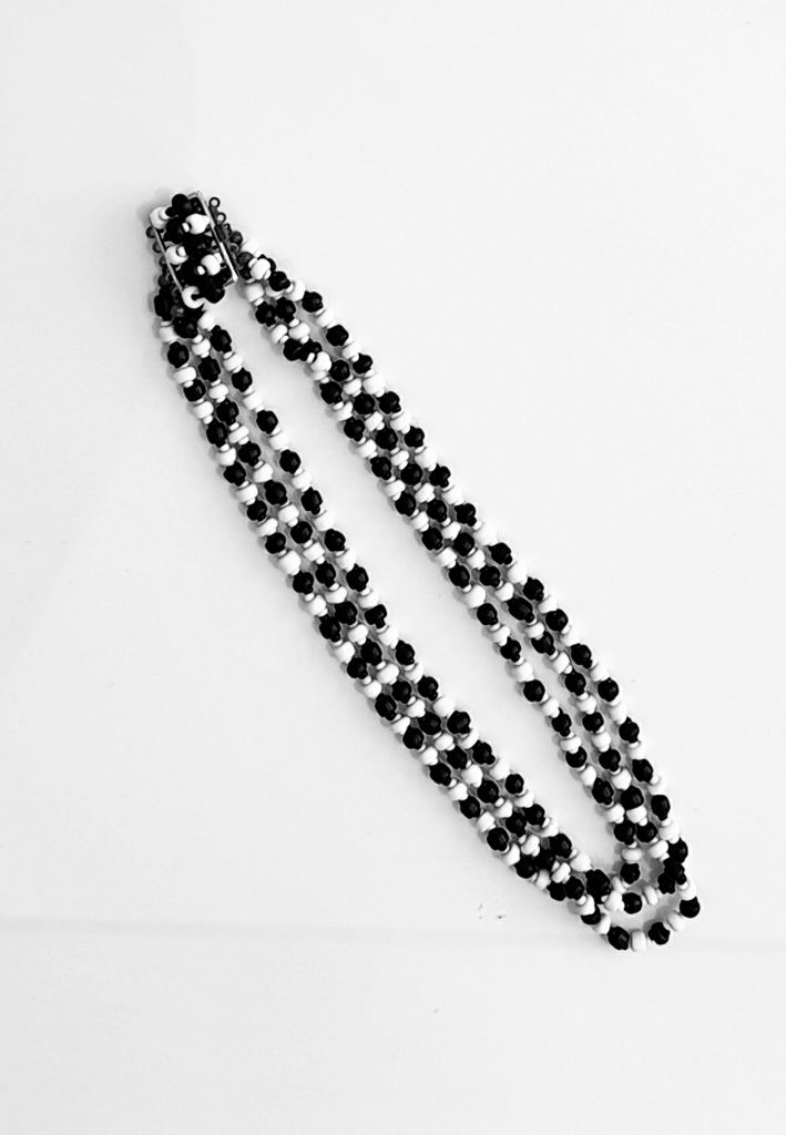 Black and White Beaded