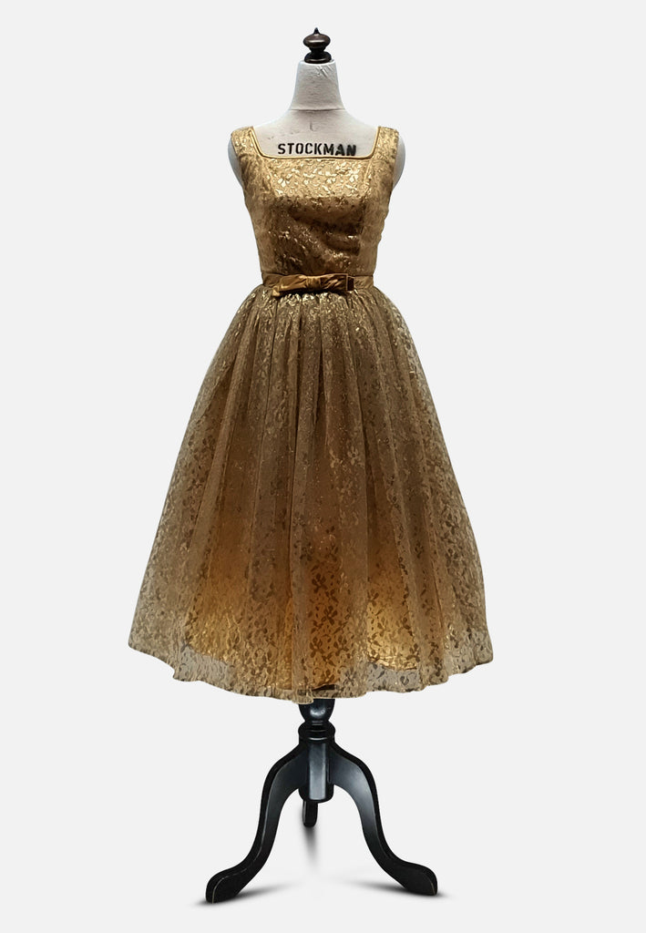 Gold Glamazon Dress - WOUNDED BIRD