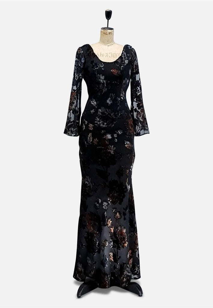 Black Flock n Bias Luxe Dress