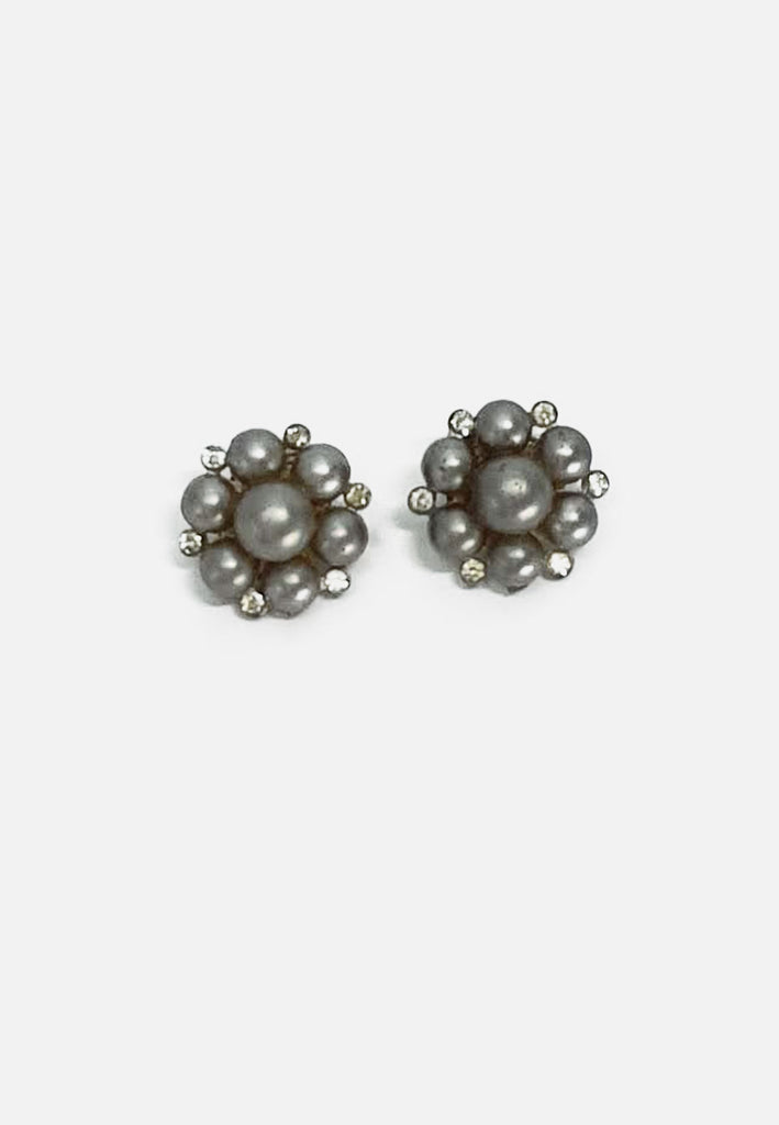 Grey Bubbly Earrings (clip-on)