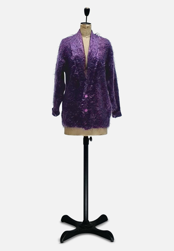Purple Mohair Knit RETRO