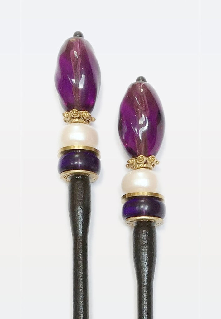 Plum Hairsticks