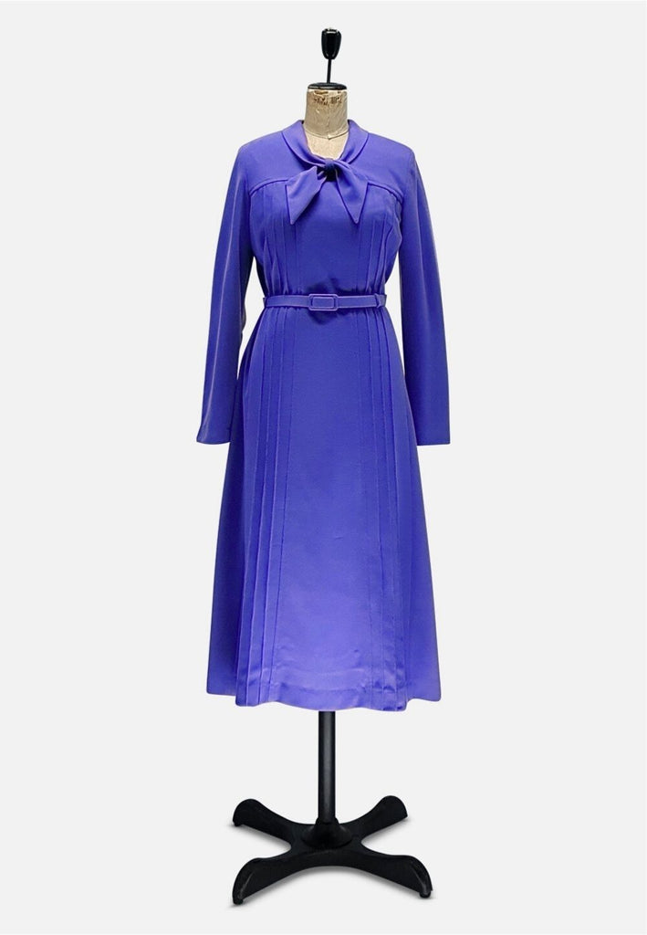 Purple Pretty Wool Dress