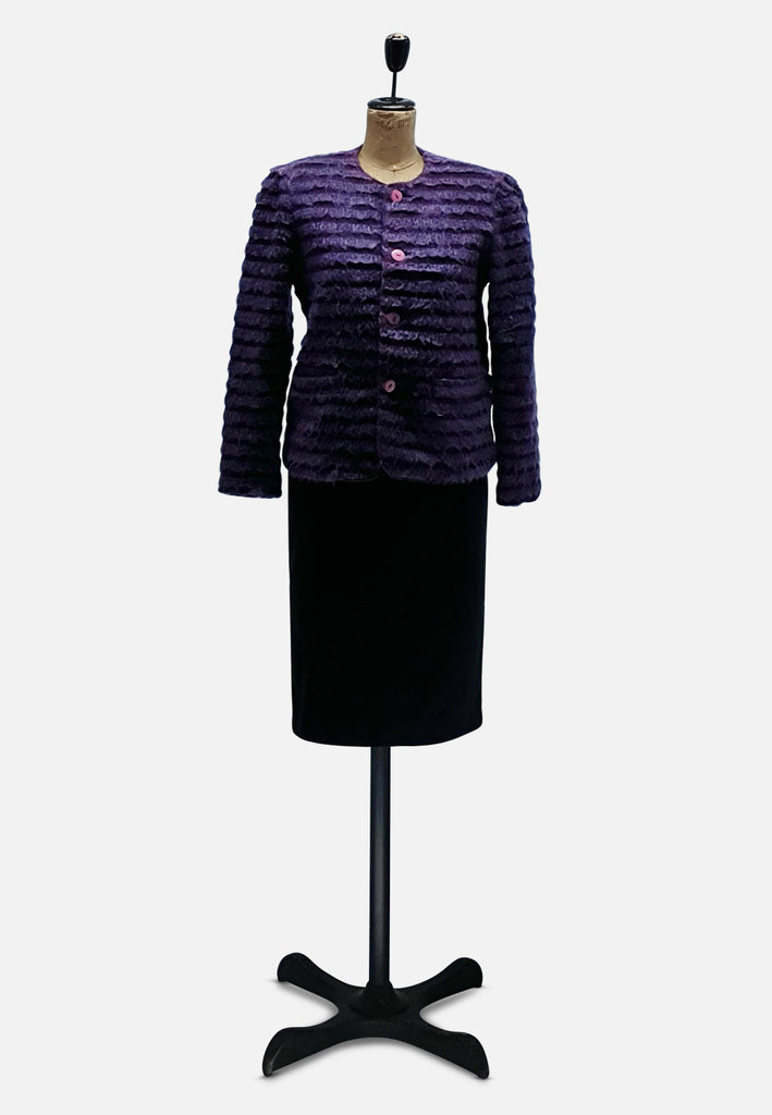 Purple Pleaser Mohair Jacket