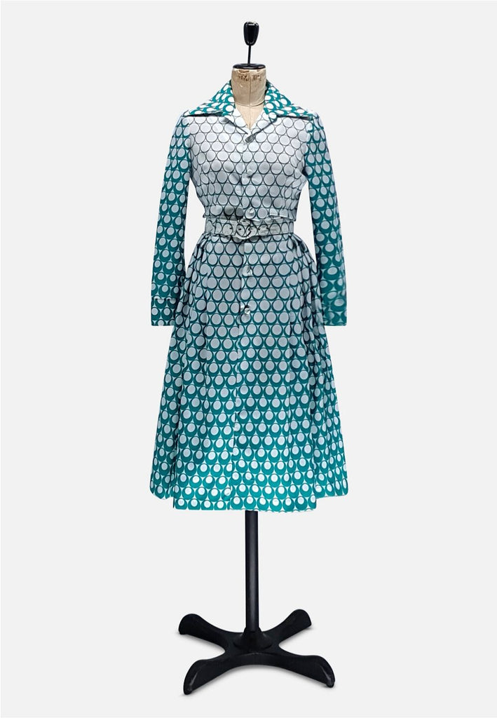 Teal Circle Easy Chic Dress