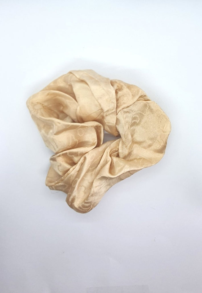 Keep your mane outta the rain Vintage Scrunchie - Gold