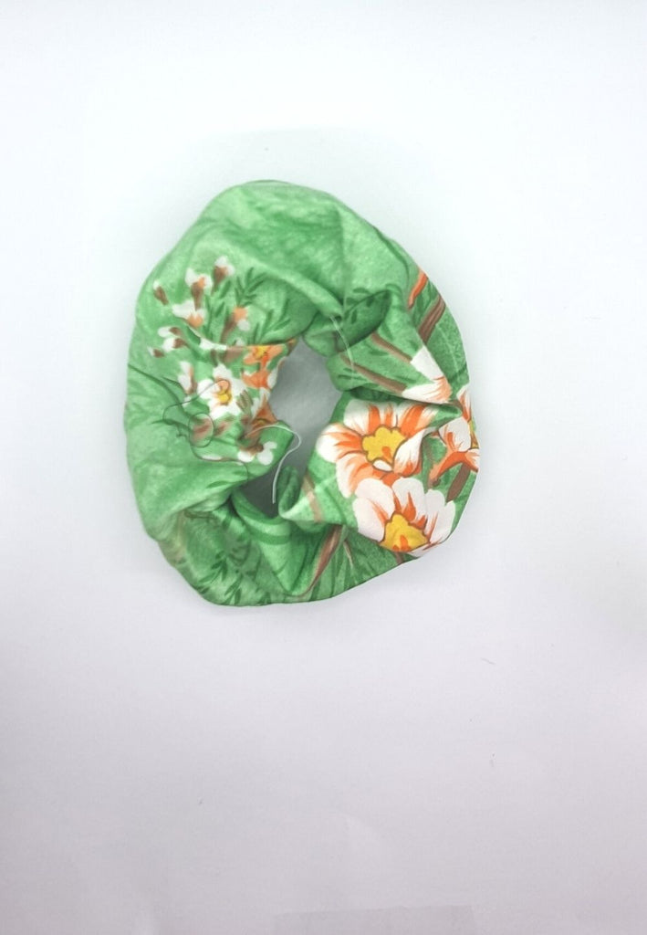 Keep your mane outta the rain Vintage Scrunchie - Green
