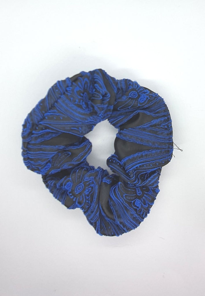 Keep your mane outta the rain Vintage Scrunchie - Royal Blue