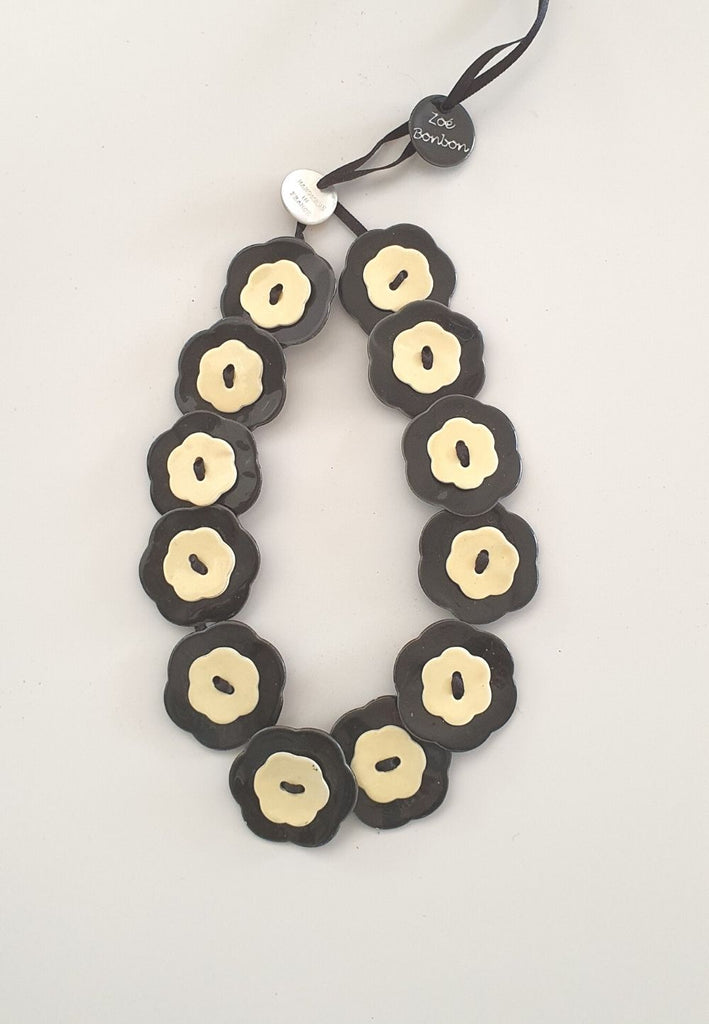 Black and Cream Dream Necklace