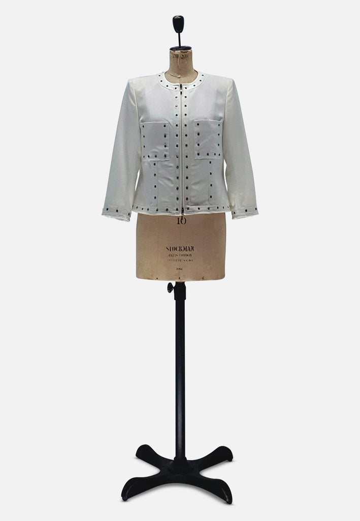 White Jacket Designer Retro