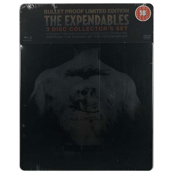 The Expendables Bullet Proof 3 Disc Collector's Set Blu-Ray Steelbook - Scratched