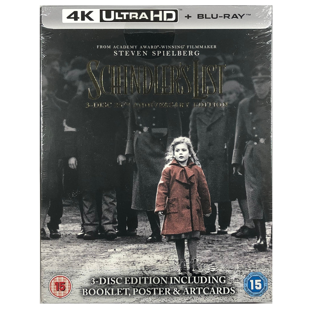 Schindler's List 25th Anniversary 4K 3-Disc Box Set