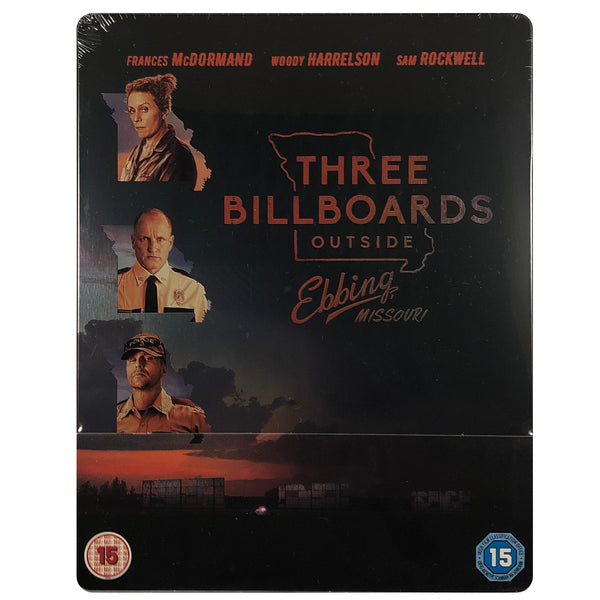 Three Billboards Outside Ebbing Missouri Blu-Ray Steelbook