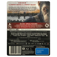 War For The Planet Of The Apes Blu-Ray Steelbook