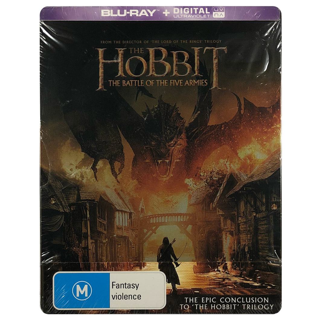 The Hobbit: The Battle of the Five Armies Blu-Ray Steelbook - Scratch on Opening Edge