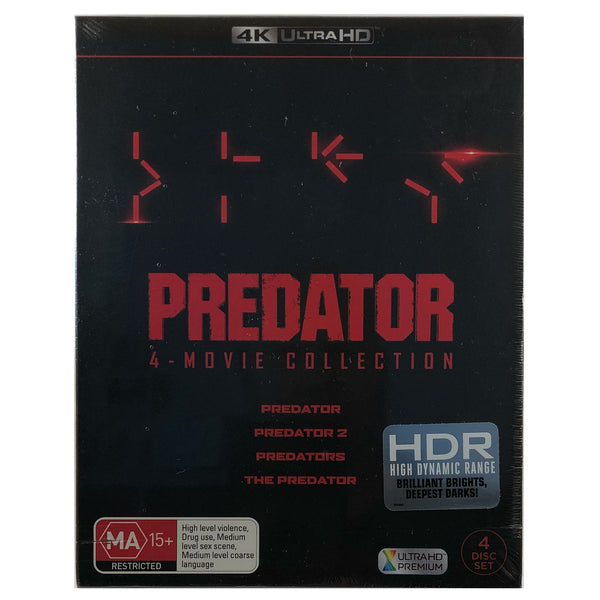 Predator 4 Movie Collection 4K Box Set
