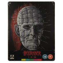 Load image into Gallery viewer, Hellraiser 1-3 Blu-Ray Steelbook