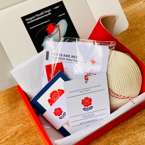 Saint Georges Society New York - Roses are Red - Millinery workshop kit