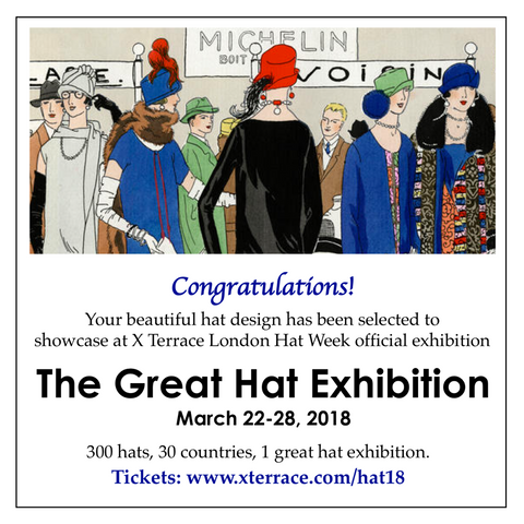 I was delighted to have three of my pieces featured in this year s London  Hat Week 4c40a3e51ce3