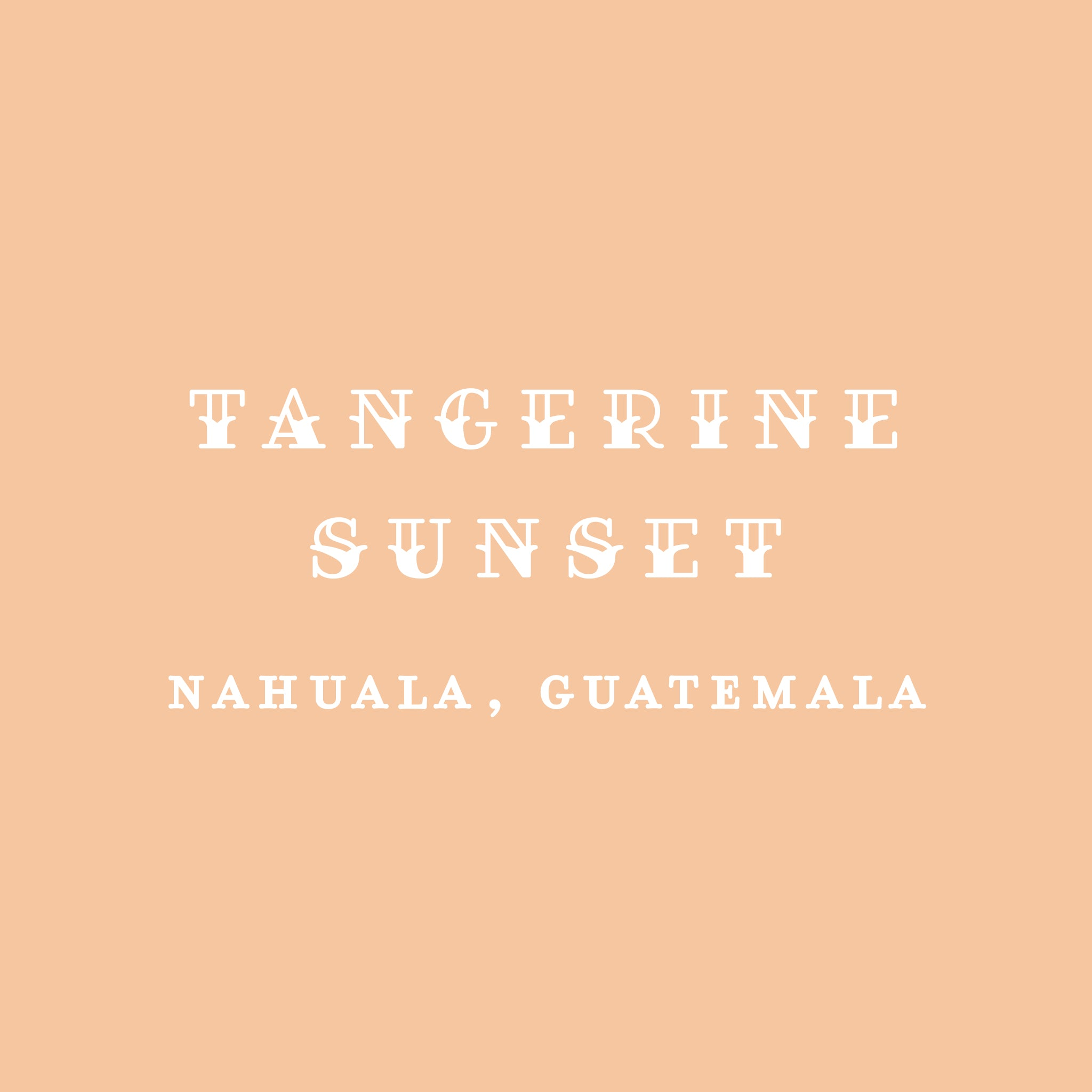 Tangerine Sunset