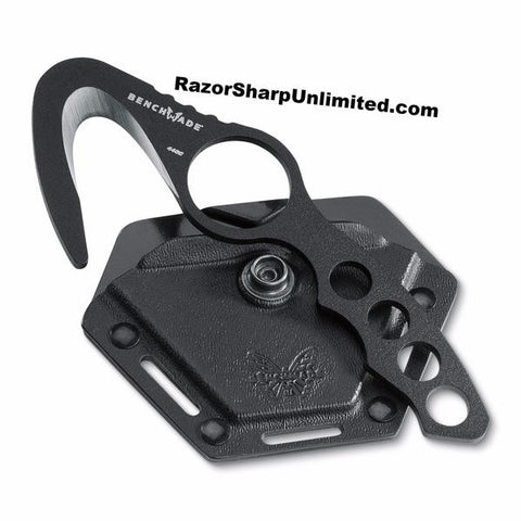 Benchmade 10 BLK Rescue Hook Safety Cutter w/ Black Molded Sheath