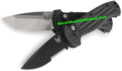 Benchmade 9052S AFO II Tanto Automatic Knife Serrated Satin