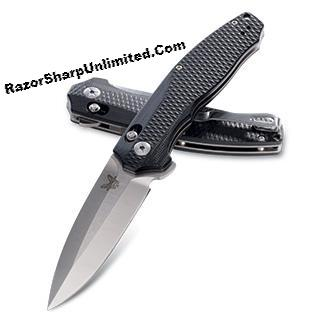 Benchmade 495 Vector AXIS-Assist Opening Knife Black G-10 Satin Plain